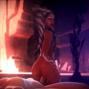 Ahsoka Tano (Star Wars) – Reverse Cowgirl
