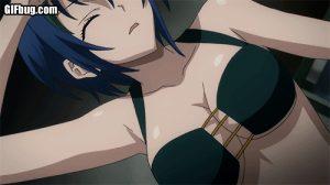 Anime cartoon babe with huge tits