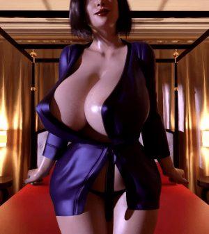 Busty milf swinging her huge boobs (Serge3dx)