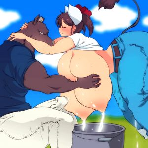 cute cow gets her tits milked – (Artist: Hataraki-Ari)