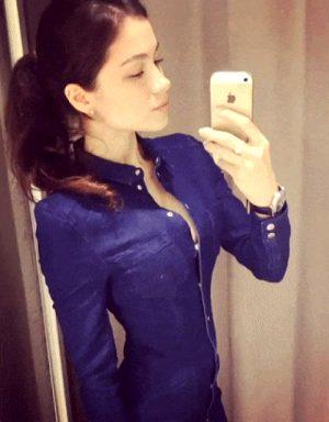 Larisa Krylova – Pretty brunette and cleavage surprise