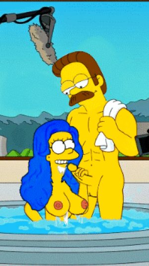 Marge blowing Ned