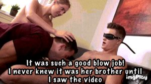 Next time I don't need the blindfold