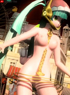 Nude Hatsune Miku cute ass dance Babylon Project Diva