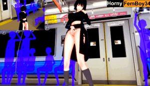 One Punch Man – Horny Fubuki masturbates in the train